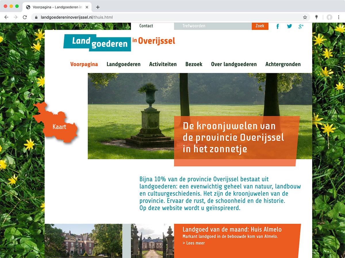 Website Landgoederen in Overijssel (2015-nu)